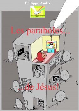 couverture paraboles de Jésus encré colorisé avec titre rouge