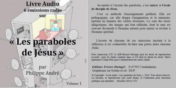Couverture boitier CD livre audio Paraboles